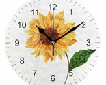 "Wall Clock 10"" Colorful Sunflower Summer Vintage Style Shabby Chic Farmhouse"
