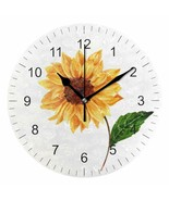"""Wall Clock 10"""" Colorful Sunflower Summer Vintage Style Shabby Chic Farmh... - $39.00"""