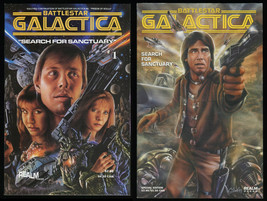 Battlestar Galactica Search for Sanctuary 1 + Special Ed. Comic Set Lot ... - $30.00