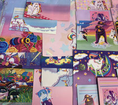 32 Pc Lisa Frank Stationery Raccoons Markie Elephant Bees Stickers Postalette image 9