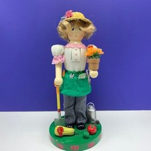 Nutcracker village Gardener christmas statue figurine farmer shovel flow... - $68.26