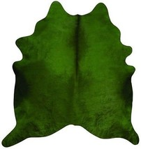 Dyed Green Cowhide Rugs Size: ~7 X 7 ft Dyed Green Cowhide Rugs  - $296.01