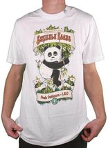 LRG Strictly Roots Weed Joint Smoking Panda Dark Olive Black or White T-Shirt NW image 4