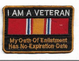 Vietnam Veteran I AM A Veteran My Oath Of Enlistment Vintage Patch - $12.53