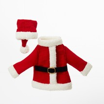 "Kurt Adler 11"" Festive Red White Santa's Coat Hat Knit Wine Bottle Cover - $11.62"