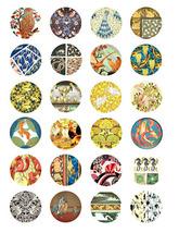 vintage animal textile fabric patterns digital download collage sheet 1.... - $3.50