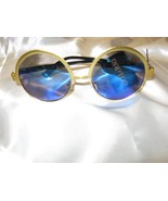 sunglasses shades swim pool New Summer Swim Mirror Blue Gold Frame Free ... - $27.95