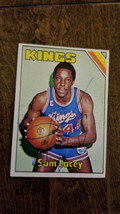 1975-76 TOPPS SIGNED AUTO CARD SAM LACEY KANSAS CITY KINGS ROYALS NEW ME... - $16.82