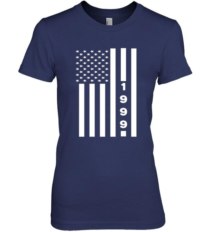 American Flag 1999 19th Years Old Shirt 19 Birthday Gift image 2