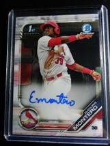 2019 Bowman Chrome Elehuris Montero Cardinals Auto Autograph RC Baseball... - $49.99