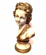 French Lady Victorian Bust Artist Signed Paris Rococo Era Sculpture 17 i... - $252.44