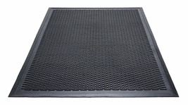 Guardian Clean Step Scraper Outdoor Floor Mat, Natural Rubber, 4'x 6', B... - $80.12
