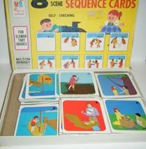 8 Scene Sequencing Card Game Milton Bradley Educational Home School Pre-School - $7.92