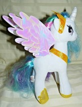 "Hasbro My Little White Pony Blue, Purple Pink hair 9"" - $15.50"