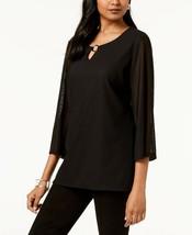 JM Collection women's  Textured Keyhole Top black size xxl msrp$49.50 - $14.36