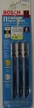 "Bosch T111C3 T-Shank Jigsaw Blades 4"" x 8TPI - Pack of 3 - $2.72"