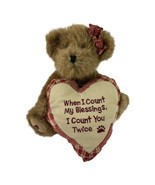 Boyd's Bears Gracie with Heart When i Count My Blessings I Count You Twice - $5.89