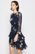 Authentic Joie $398 Kayane Silk Dress, Midnight - $123.49