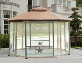 Gazebo Tent Octagon Outside Vented Metal Party Pavilion Sunshade Wedding... - $485.00