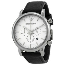 Emporio Armani AR1807 Men's Chronograph Date Leather Strap Watch - $108.59