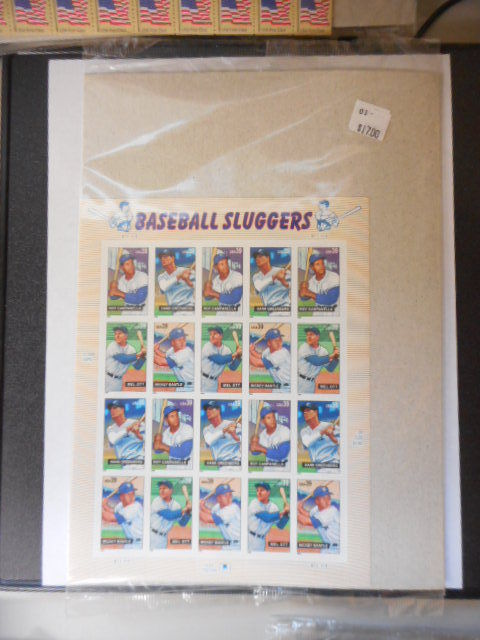 Baseball Sluggers Mint Sheet 20 - Mint NH VF Original pk