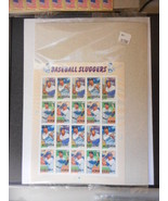 Baseball Sluggers Mint Sheet 20 - Mint NH VF Original pk - $10.64