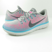 Nike Free RN Distance Womens Running Shoes Size 7.5 Gray Pink Blue 82711... - $31.49
