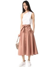 Rebecca Taylor COTTON BELTED SKIRT in nude glow NEW $325 - $79.00+