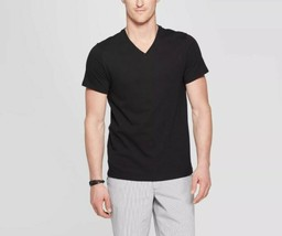 Goodfellow Men XL V-Neck Black Cotton Blend Lyndale Tee T-Shirt - $9.99