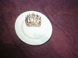 King George VI Coronation Butter Plate (1937)  -  FREE POSTAGE** - $13.66