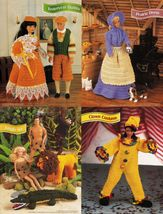 "4X Barbie 11-1/2"" Doll Prairie Yesteryear Clown Jungle Costume Crochet Pattern image 5"