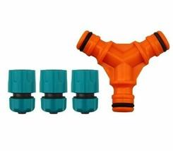 Garden Hose Connector Irrigation Y-connectors Port 3 Way Water Splitter ... - $9.39