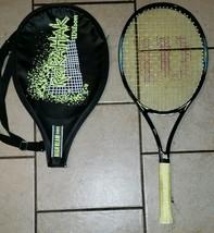 "Wilson Rak Attak Tennis Racket 23"" with Case  Yellow & Black Unisex Racket - $9.11"