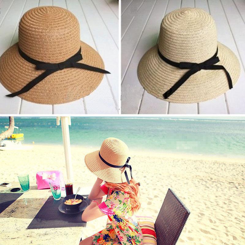 NEW Sale Summer Wide Brim Beach Sun headdress Straw Floppy Elegant Bohemia Hat image 5