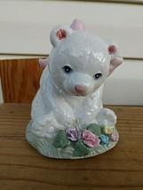 "Heritage House Musical Bear Fine Porcelain Plays ""Honeybunch"" - $17.33"