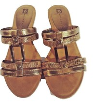 Ann Klein Gold Slip-On Sandals - $15.47