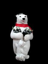 Coca-Cola Kurt S Adler Resin Polar Bear with Cub Holiday Christmas Ornament - $13.61