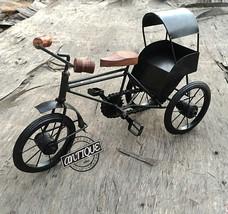Iron Rural Tier Rickshaw Bicycle Home/Office Figurines Decor Vintage Tri... - $57.27