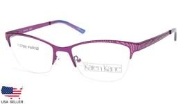 NEW Karen Kane BAY LEAF VIOLET EYEGLASSES GLASSES WOMEN's  FRAME 52-18-1... - $53.89