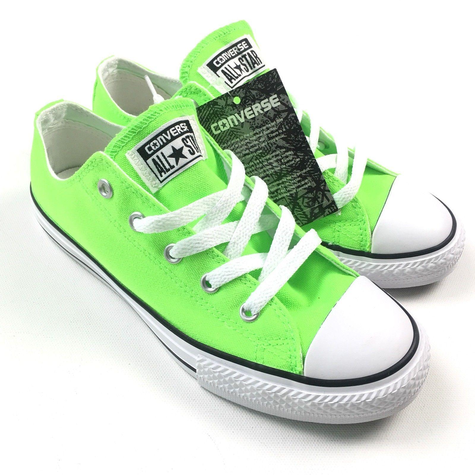 073ecb4df7d2e6 Converse Womens Chuck Taylor OX Green Gecko White Sneakers Size 5 NEW  35 A4