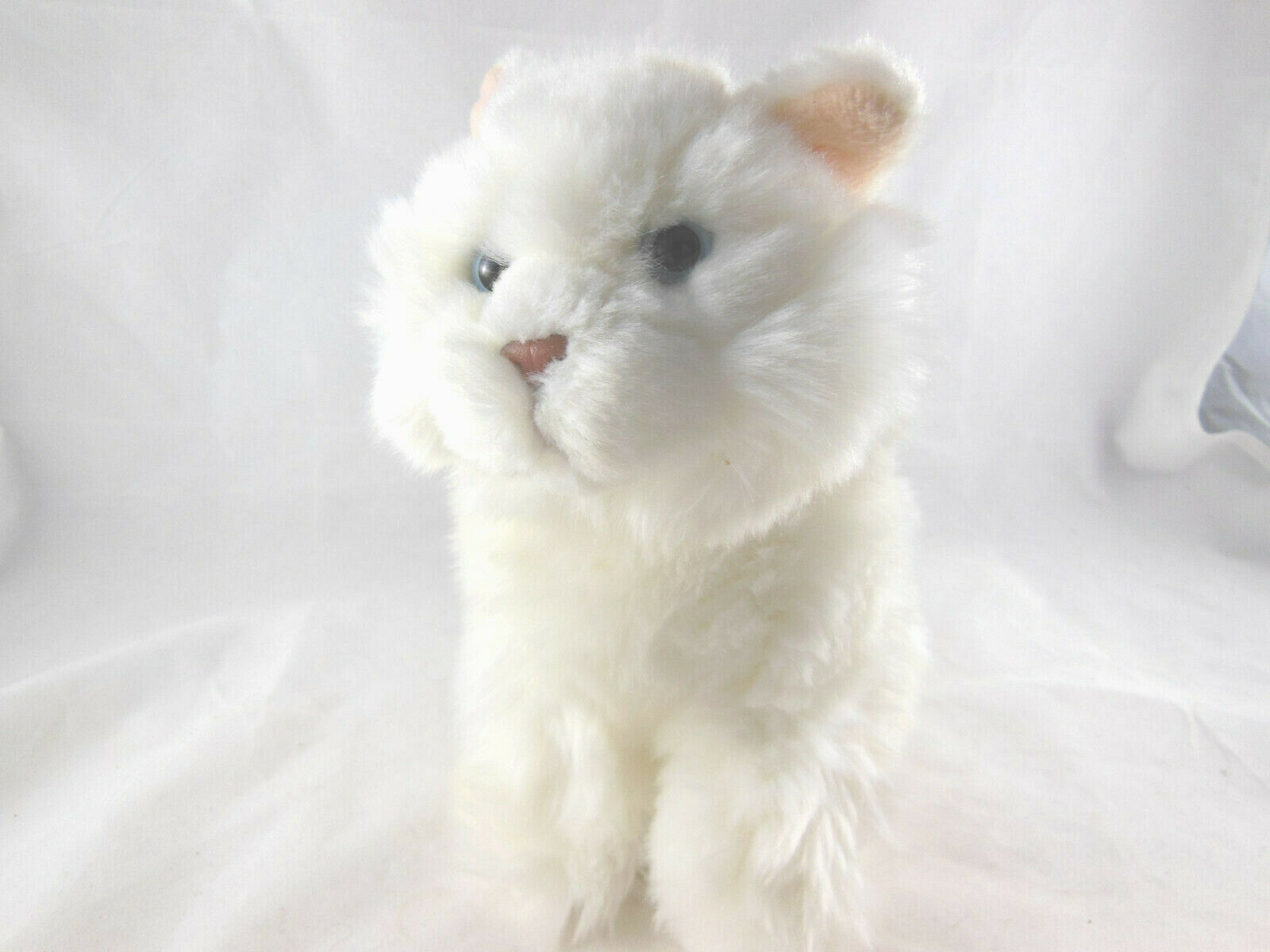 "Primary image for Ganz Persian Cat Kitten Fluffy white haired Signature 8"" tall Webkins Blue eyes"