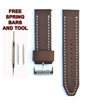 Fossil ME3128 24mm Brown Leather Watch Strap Band FSL113 - $28.71