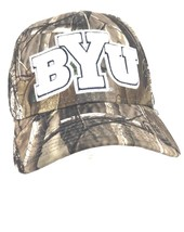 Under Armour Men's BYU Brigham Young Camo Stretch Fit Cap Baseball Hat S/M - $13.24