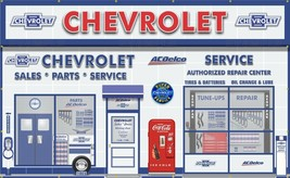 Chevrolet Dealer Sales Service Scene Wall Mural Sign Banner Garage Art 8' X 13' - $179.96