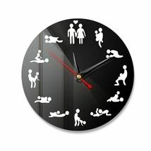 DIY Bachelorette Adult Room Decorative Wall Clock Love Position Mirror S... - $23.92+