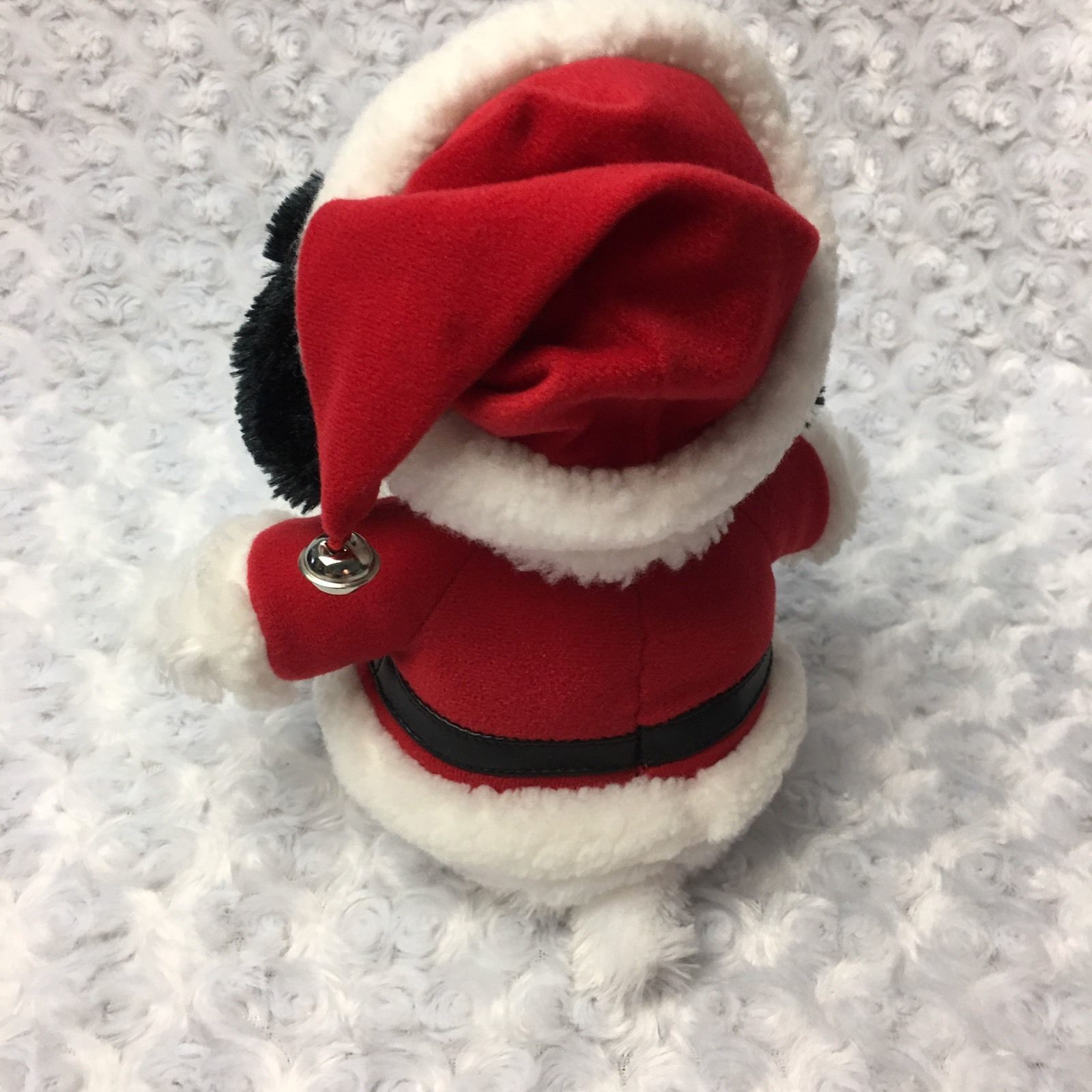 Snoopy Peanuts Hallmark Medium Christmas Holiday Stuffed Plush as Santa Bell Hat image 6