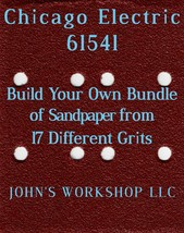 Build Your Own Bundle Chicago Electric 61541 1/4 Sheet No-Slip Sandpaper 17 Grit - $0.99