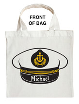 Fishing Captain Trick or Treat Bag, Navy Captain Trick or Treat Bag - $11.99+