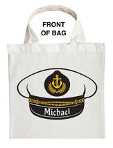 Fishing Captain Trick or Treat Bag, Navy Captain Trick or Treat Bag image 1