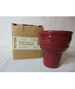 Longaberger Ice Cream Cone Dish Bowl Paprika Pottery New In Box - $13.81